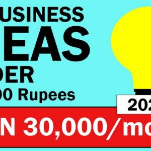 10 BUSINESS IDEAS under 10,000 RUPEES INVESTMENT in 2021