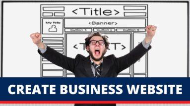 Create Business Website Because...