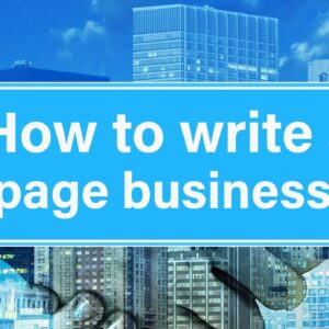 How to Write a One Page Business Plan for Your Own Business in 2021