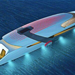Tesla's Self-Charging Model Y Superyacht