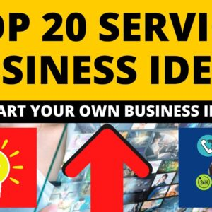 Top 20 Service Business Ideas to Start Your Own Business in 2021