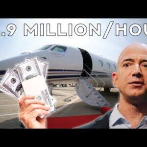 Jeff Bezos Makes $8.9 Million Dollars Per Hour