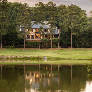 golf course and waterfront views converge in raleigh